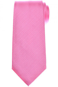 Isaia Napoli 7 Fold Tie Silk Pink Geometric Solid