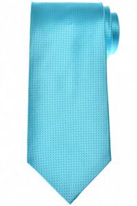 Isaia Napoli Tie Silk Blue Polka Dot