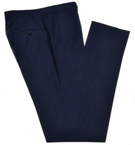 Isaia Napoli Dress Pants Aquaspider Wool Size 36 Blue
