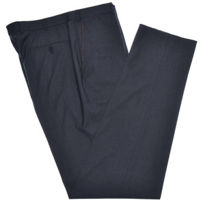 Isaia Napoli Dress Pants 130's 2-Ply Wool Size 42 Dark Gray