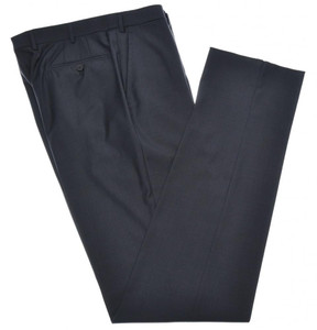 Isaia Napoli Dress Pants 130's Wool Size 46 Charcoal Gray