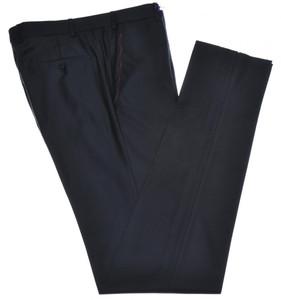 Isaia Napoli Dress Pants Aquaspider 160's Wool Size 36 Black
