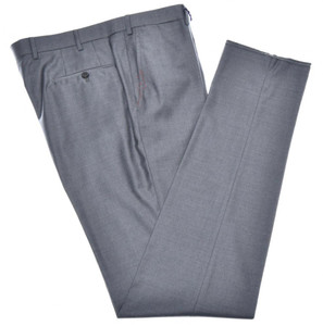 Isaia Napoli Dress Pants Aquaspider 160's Wool Size 40 Gray
