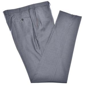 Isaia Napoli Dress Pants Aquaspider 160's Wool Size 36 Gray