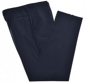 Isaia Napoli Dress Pants 130's Wool Size 46 Navy Dark Blue