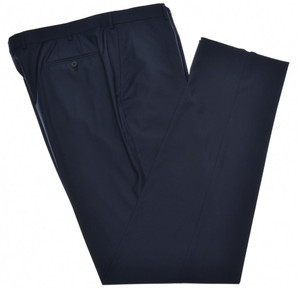 Isaia Napoli Dress Pants 130's Wool Size 42 Navy Dark Blue