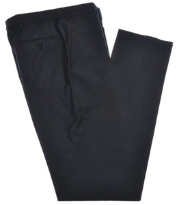 Isaia Napoli Dress Pants 130's 2-Ply Wool Size 30 Black