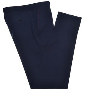 Isaia Napoli Dress Pants Wool Stretch Size 38 Dark Blue
