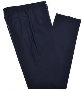 Isaia Napoli Dress Pants 130's 2-Ply Wool Size 32 Dark Blue