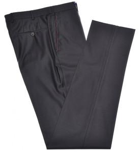 Isaia Napoli Dress Pants Aquaspider 160's Wool Size 36 Dark Brown