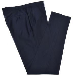Isaia Napoli Dress Pants Aquaspider Wool Size 38 Navy Dark Blue