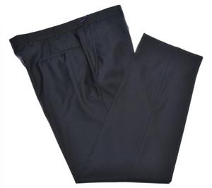 Isaia Napoli Dress Pants Aquaspider Wool Size 40 Dark Gray