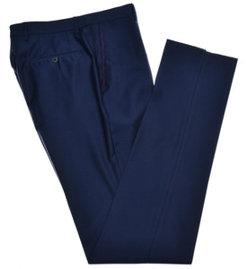 Isaia Napoli Dress Pants Aquaspider 160's Wool Size 30 Blue