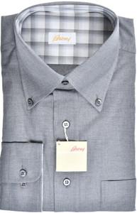 Brioni Dress Shirt Cotton Cashmere Large IV Gray