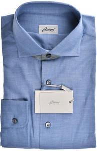 Brioni Dress Shirt Soft Cotton Medium III Blue