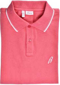Brioni Polo Shirt Fine Cotton Stretch Size XLarge Pink