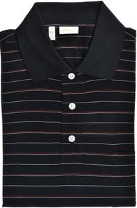 Brioni Polo Shirt Fine Silk Size Medium Black Red