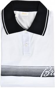 Brioni Polo Shirt Fine Cotton Size Large White Black