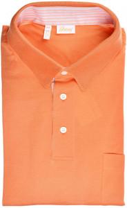 Brioni Polo Shirt Fine Cotton Size XXXLarge Orange