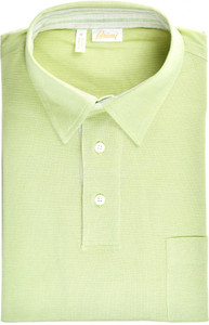 Brioni Polo Shirt Fine Cotton Size Medium Green