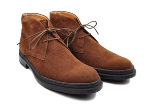 Tod's Shoes Chukka Boots Suede Leather 7 UK 8 US Brown