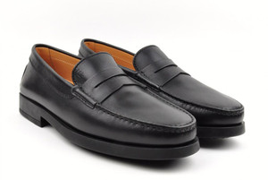 Tod's Shoes Leather Maine Mocassino Loafers 8 UK 9 US Black