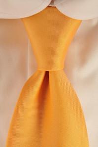 Luigi Borrelli Napoli Tie Silk 58 1/2 x 3 1/4 Orange Solid