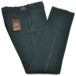 PT01 Pants Fitzgerarld Slim Fit Washed Cotton Twill 40 56 Green