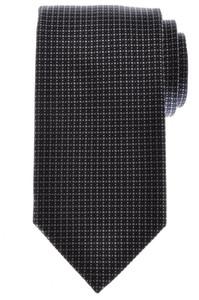 Battisti Napoli Tie Silk Wool 57 x 3 1/4 Navy Blue Gray Geometric