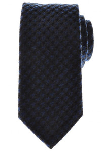 Battisti Napoli Tie Silk Wool 58 x 3 3/8 Blue Black Check