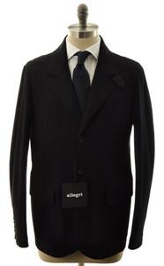 Allegri Outerwear Coat Jacket Sport Coat Wool Blend 50 Medium Black