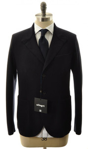 Allegri Outerwear Coat Jacket Sport Coat Raw Edge 52 Large Blue