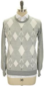 Brioni Sweater Crewneck Extrafine Cashmere Silk 56 XXLarge Gray