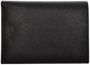 Brioni Large Wallet 8 Cards Saffiano Leather Black