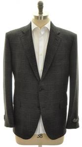 Belvest Sport Coat Jacket 2B Wool Cashmere Size 48 S Gray Plaid