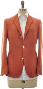 Boglioli 'Dover' Sport Coat Jacket Silk Size 38 Orange Herringbone