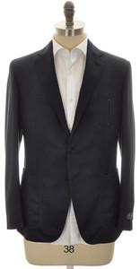 Belvest Sport Coat Jacket 2B Hopsack Wool Size 40 Blue