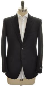 Belvest Sport Coat Jacket 2B 120s Wool Size 46 Black Solid