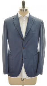 Boglioli 'Coat' Sport Coat Jacket 3B Cotton Stretch Size 40 Blue