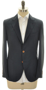 Boglioli 'Dover' Sport Coat Jacket 3B Wool Size 40 Blue Check