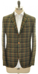 Boglioli 'Dover' Sport Coat Jacket 3B Cotton Linen 40 50 Green