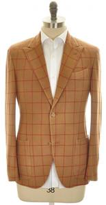 Boglioli 'K Jacket' Sport Coat 2B Peak Wool Cashmere Size 38 Brown