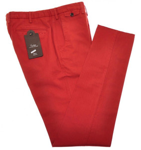 PT01 Pantaloni Torino Evo Fit Pants Cotton Stretch 34 50 Red