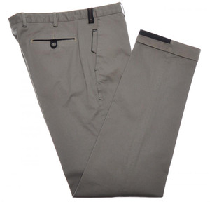 PT01 Pantaloni Torino Pants Cotton Stretch 34 50 Brown Blue