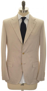 Belvest Suit 3B Cotton 40 Light Brown