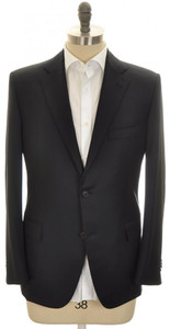Belvest Sport Coat Jacket 2B Wool 110's Size 42 Drop 4 Dark Blue