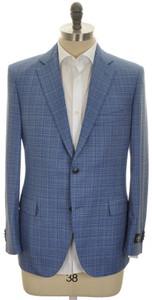 Belvest Sport Coat Jacket 2B Wool Size 48 Blue