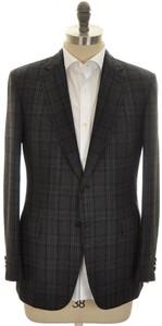 Brioni Sport Coat Jacket 'Brunico' Wool Cashmere 46 56 Gray Black
