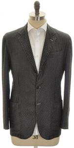 Kiton Sport Coat Jacket 3B Cashmere Silk 42 52 Large Gray Check
