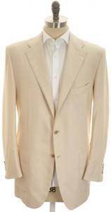 Kiton Sport Coat Jacket 3B Cotton Cashmere Silk 46 L 56 L Brown